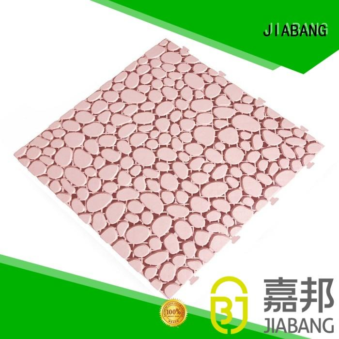 JIABANG anti-sliding plastic wood tiles for customization