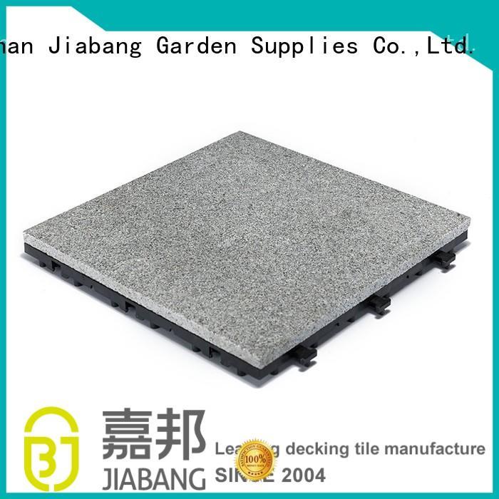 JIABANG custom interlocking granite deck tiles from top manufacturer for sale