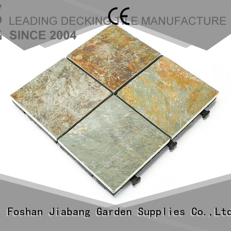 JIABANG Brand tile slate surround garden outdoor stone deck tiles
