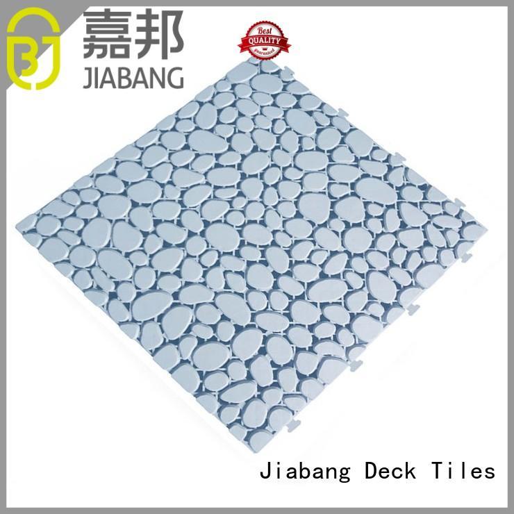 outdoor plastic tiles flooring JIABANG