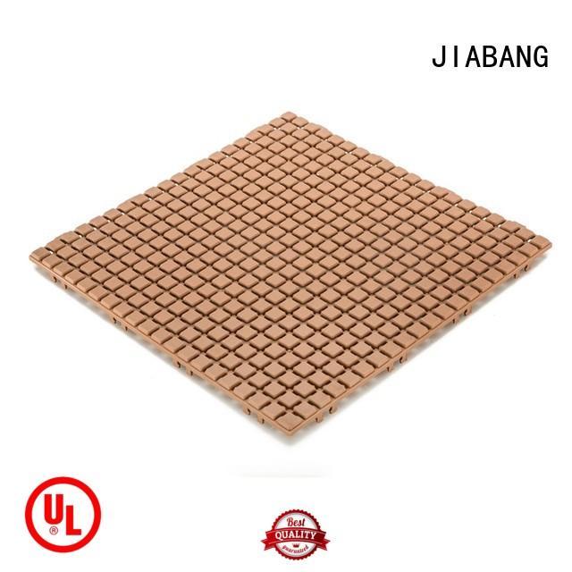 JIABANG wood plastic composite decking tiles for customization