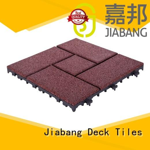 JIABANG Brand interlock court rubber mat tiles floor supplier