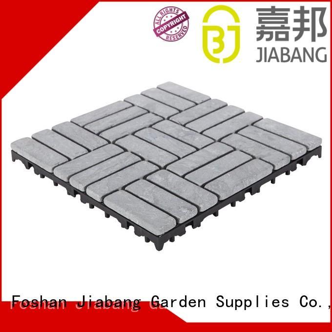 JIABANG interlocking travertine deck tiles at discount for garden decoration