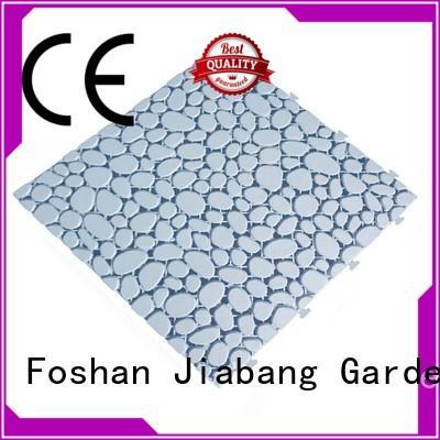 JIABANG decorative plastic garden tiles for wholesale