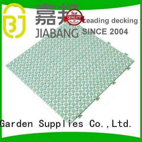 plastic floor tiles outdoor deck yellow plastic JIABANG Brand non slip bathroom tiles