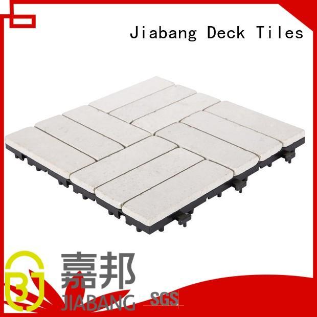interlocking french pattern travertine tile wholesale for garden decoration JIABANG
