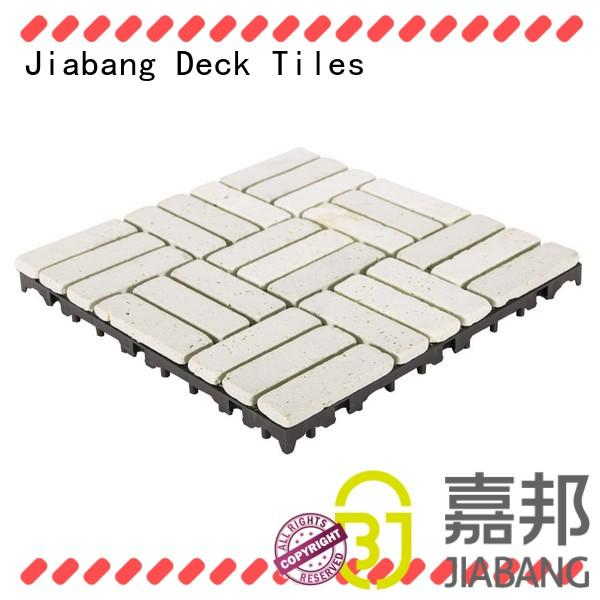 JIABANG diy travertine floor tile at discount for playground