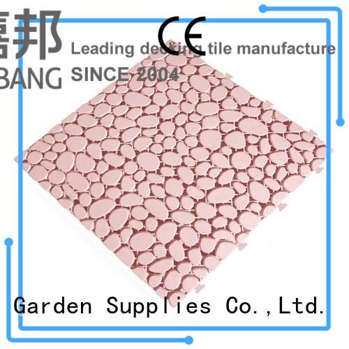 anti-sliding plastic interlocking outdoor tiles flooring JIABANG