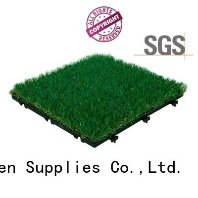 high-quality fake grass tiles hot-sale artificial grass path building