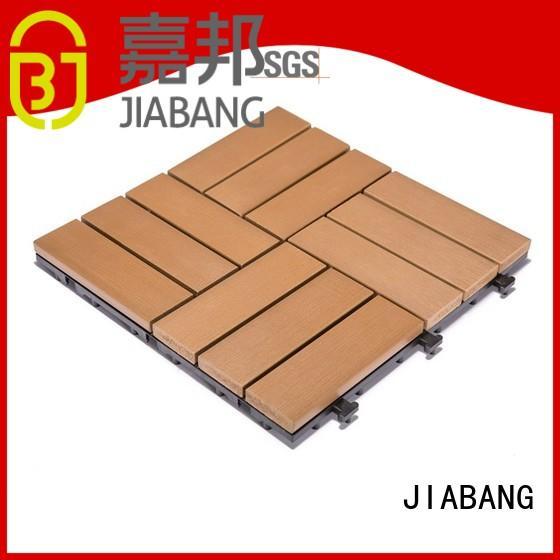 pvc plastic patio tiles light-weight garden path JIABANG