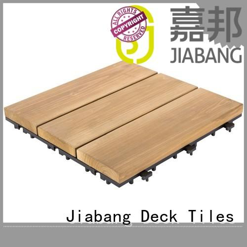 JIABANG outdoor modular wood deck tiles long size for balcony