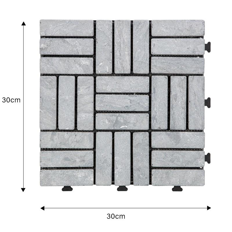 Easy install decking tile 30cm for playground TTS27P-GY-1