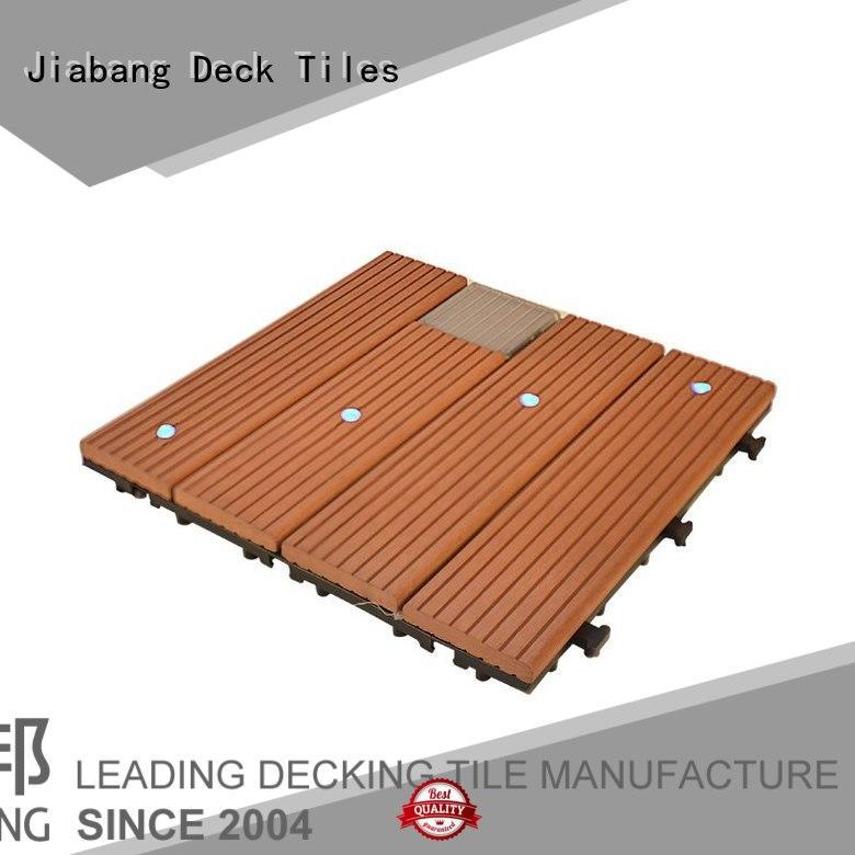 JIABANG hot-sale balcony deck tiles wpc garden lamp