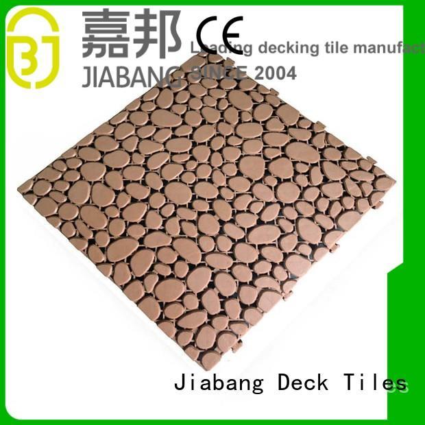 anti-sliding plastic decking tiles non-slip JIABANG