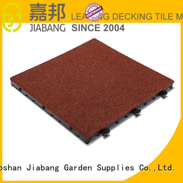 rubber mat tiles balcony patio soft JIABANG Brand interlocking rubber mats
