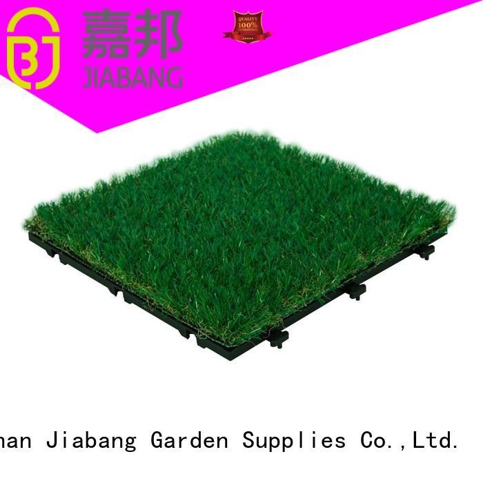 JIABANG Brand artificial diy grass floor tiles manufacture