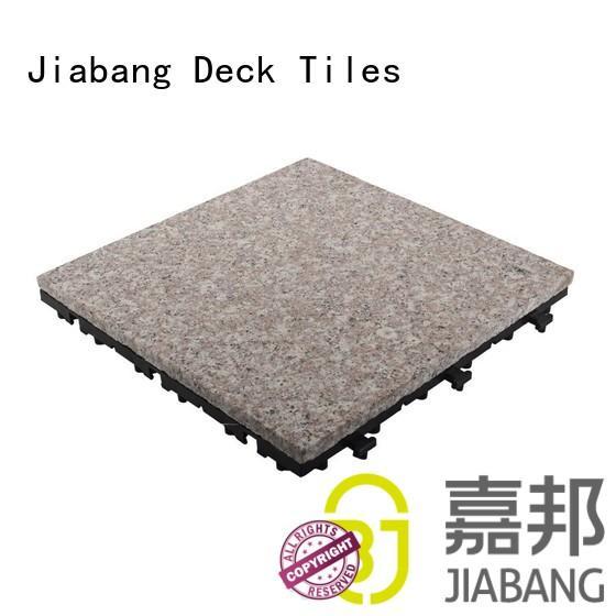JIABANG custom interlocking granite deck tiles from top manufacturer for porch construction