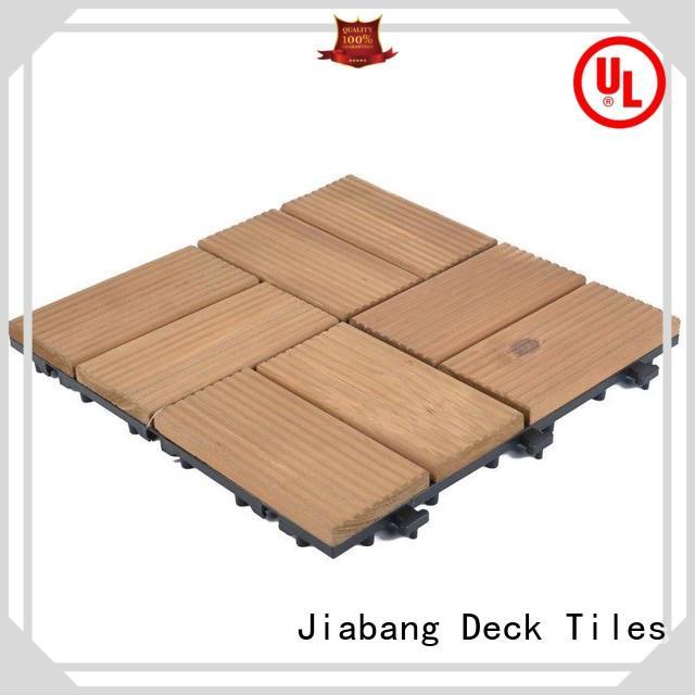 JIABANG adjustable garden wooden decking tiles outdoor for garden