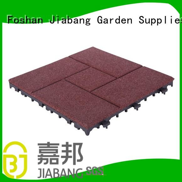 floor Custom outdoor sport interlocking rubber mats JIABANG gym