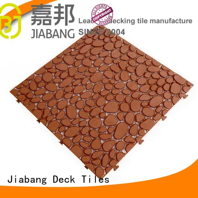 JIABANG Brand coral pink kitchen plastic floor tiles outdoor plastic