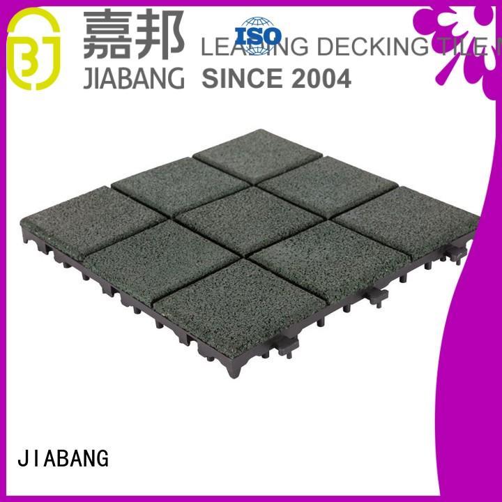 JIABANG Brand interlock playground rubber mat tiles patio supplier