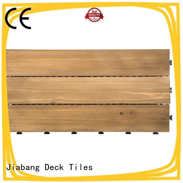 JIABANG interlocking modular wood deck tiles outdoor for garden