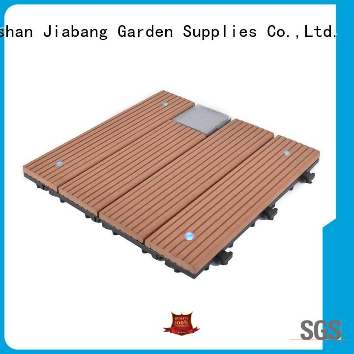JIABANG eco-friendly snap together deck tiles highly-rated ground