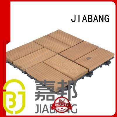 JIABANG balcony wood deck tiles gazebo low maintenance