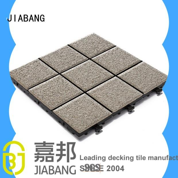 JIABANG OBM interlocking ceramic deck tiles gazebo construction