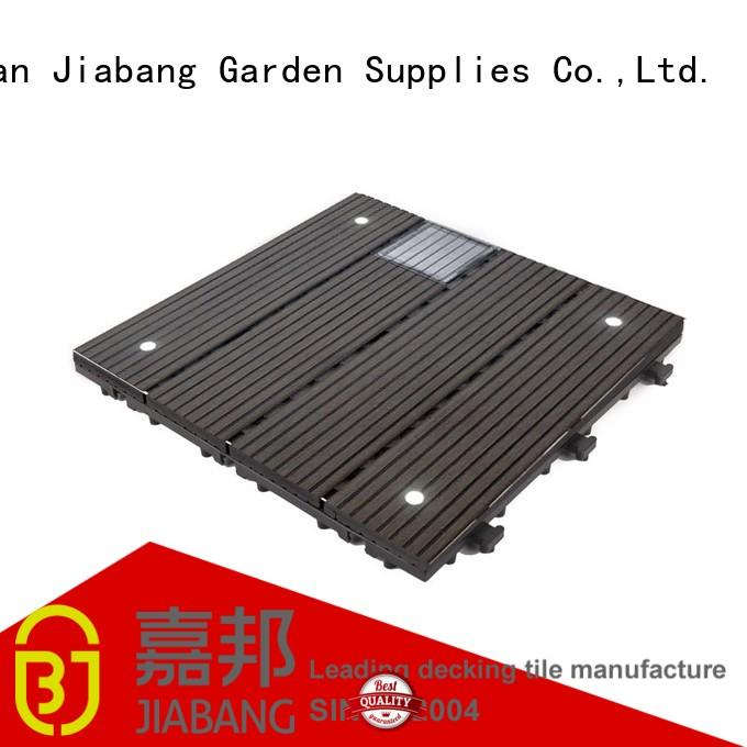 Eco-friendly WPC solar light deck tiles SSLW-WPC30 LDP