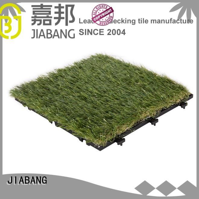 permeable artificial grass tiles easy installation for garden