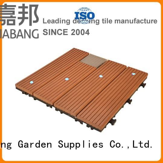 JIABANG durable interlocking outdoor patio tiles wpc garden lamp