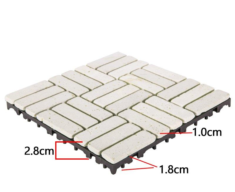 DIY yellow stone interlocking floor for residence TTS27P-YL-3