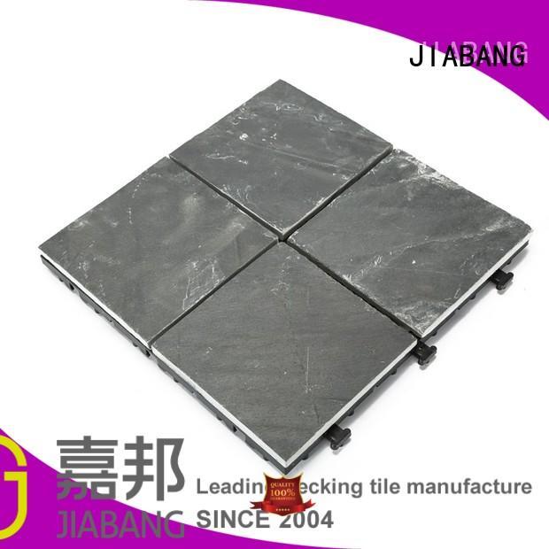 floor Custom pool real interlocking stone deck tiles JIABANG surround