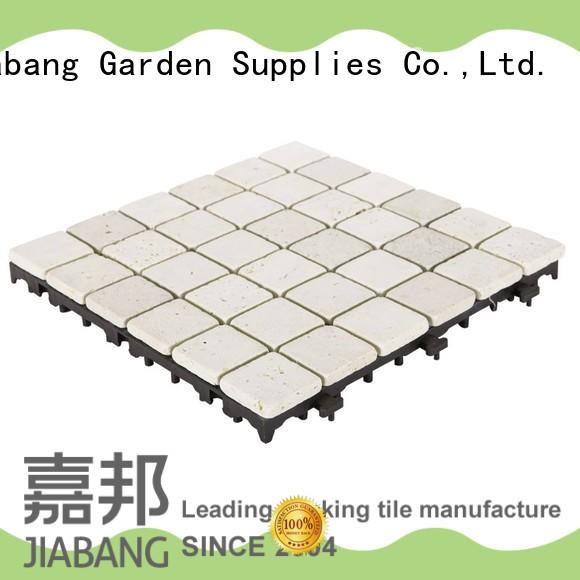 JIABANG limestone travertine stone deck tiles natural for garden decoration