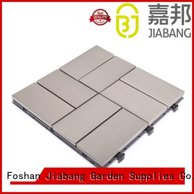 JIABANG pvc plastic garden tiles anti-siding home decoration