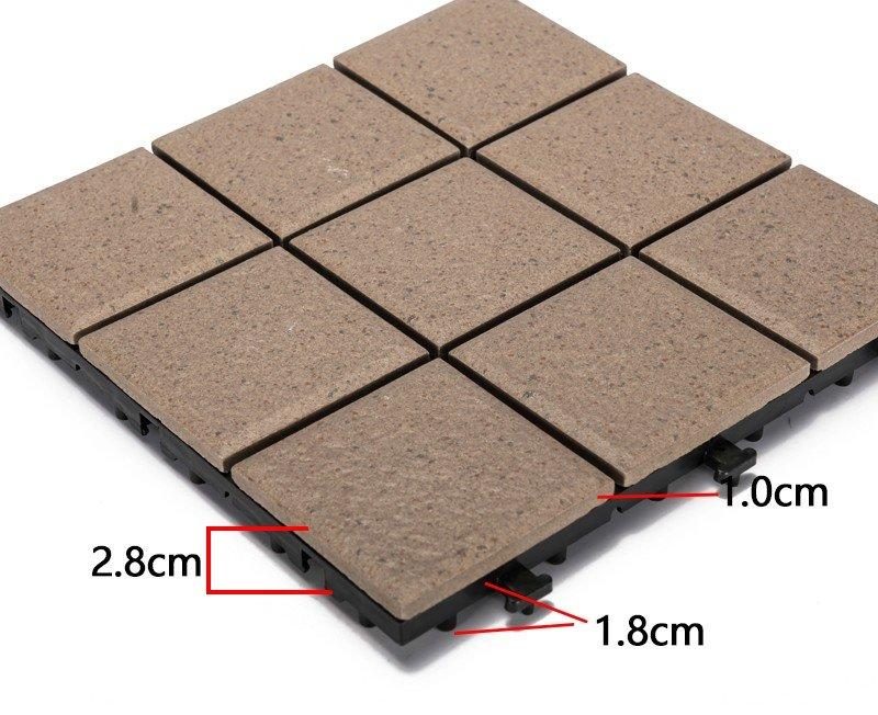1.0cm ceramic outdoor flooring deck tiles JB5015-3