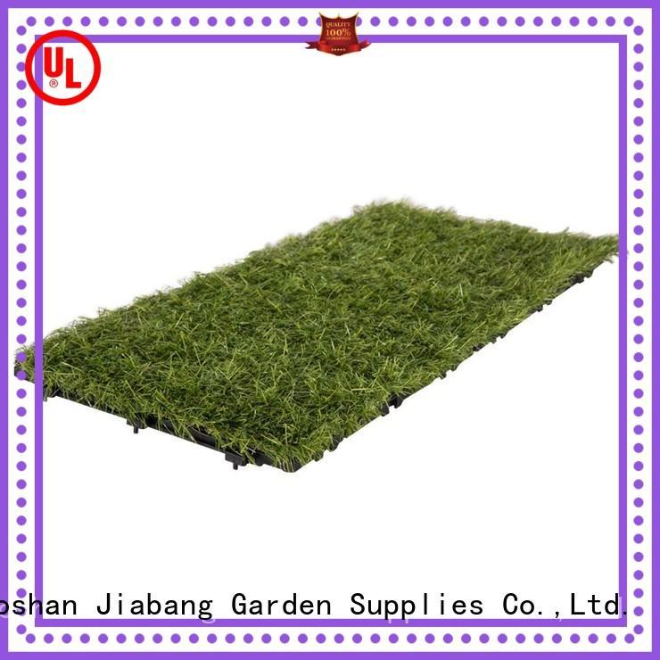 JIABANG landscape synthetic grass tiles garden decoration