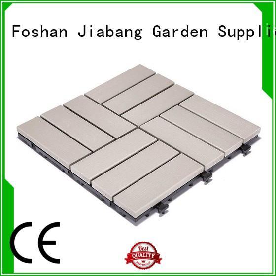 JIABANG high-end plastic decking tiles popular home decoration