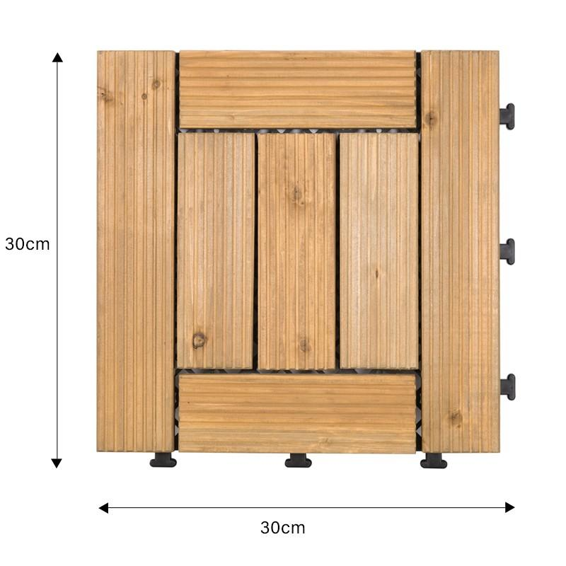 DIY wood floors interlocking tiles for balcony S7P3030BL-1