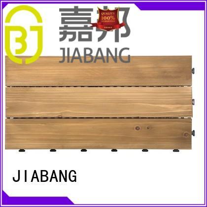 size garden tiles balcony JIABANG Brand interlocking wood deck tiles supplier