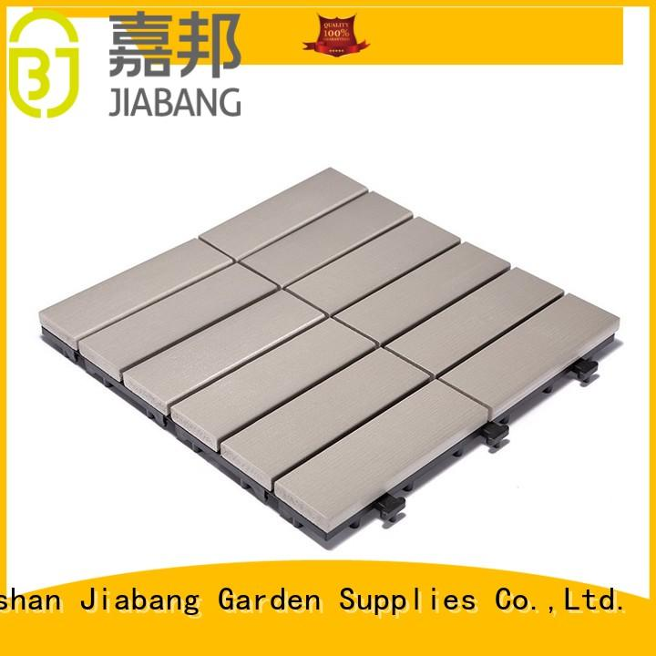 JIABANG high-end plastic interlocking deck tiles pvc garden path