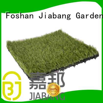 JIABANG top-selling fake grass tiles artificial grass balcony construction