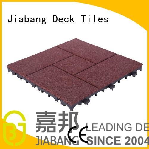 rubber mat tiles composite gym decking JIABANG Brand interlocking rubber mats