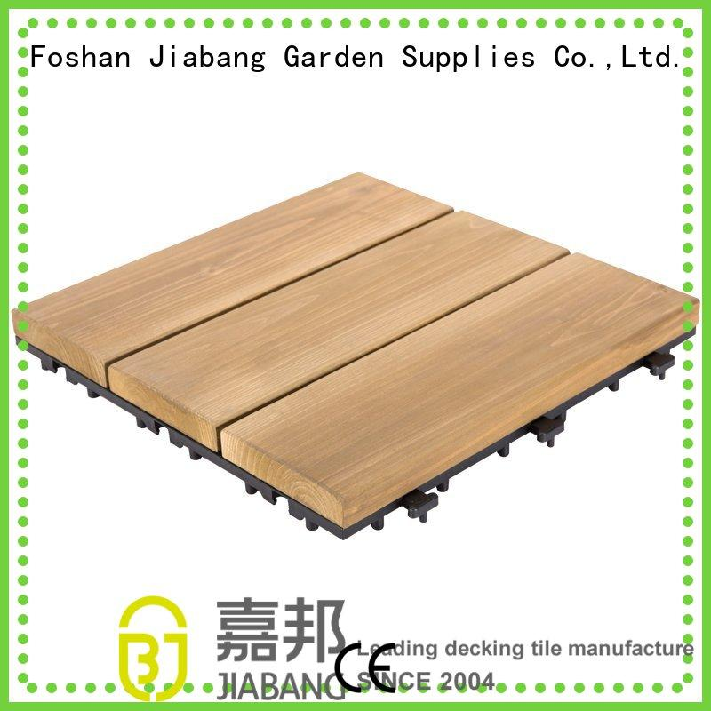 interlocking Custom solid floor interlocking wood deck tiles JIABANG tiles