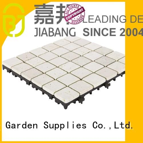 outdoor travertine marble tile diy for garden decoration JIABANG