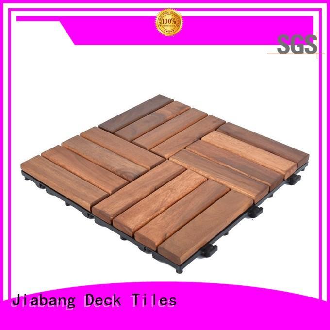 JIABANG solid wood acacia wood deck tile free delivery at discount