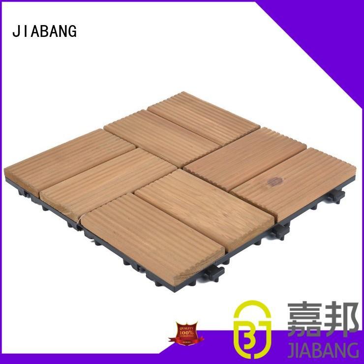 interlocking refinishing interlocking wood deck tiles floor JIABANG company