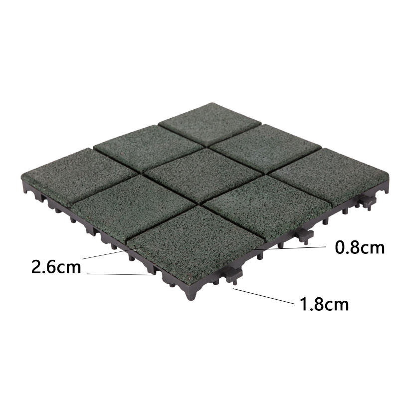 professional interlocking rubber mats playground cheap house decoration-3