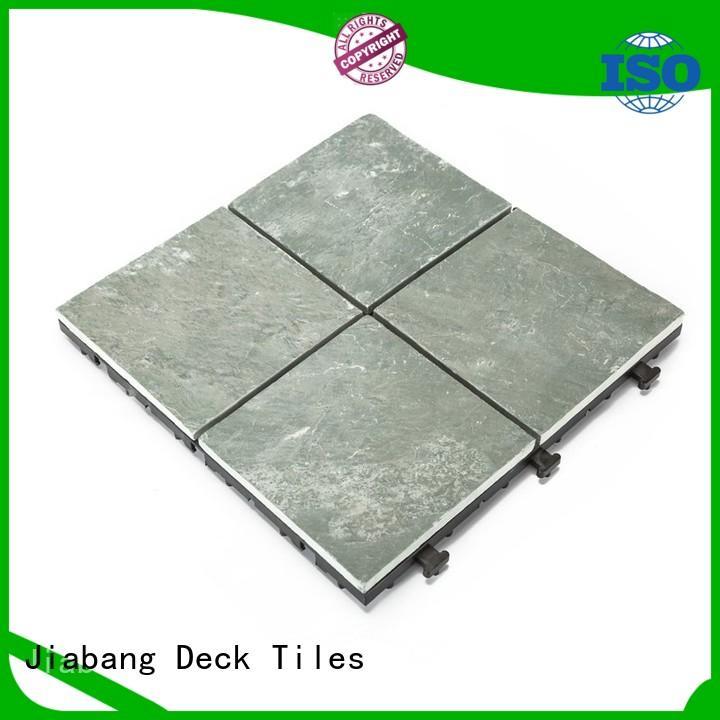 JIABANG outdoor interlocking stone deck tiles floor decoration swimming pool